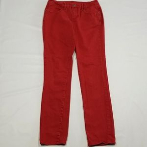 Jag Jeans Mid Rise Slim Red Color Size 6